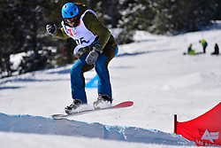 Snowboarder Cross Action, ULTEE Mike, NED at the 2016 IPC Snowboard Europa Cup Finals and World Cup