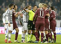 L'arbitro Doveri cerca di placare gli animi in campo,<br /> Torino 16-12-2015, Juventus Stadium, Football Calcio 2015/2016 Coppa Italia, derby, Juventus - Torino, Foto Filippo Alfero/Insidefoto
