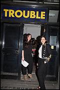 right:JOY LO DICO, Opening of the Trouble Club., Lexington St. Soho London. 6 November 2014