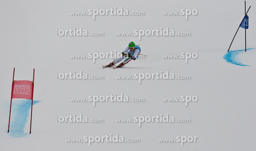 "14.01.2012, Patscherkofel, Innsbruck, AUT, Olympische Jugend Winterspiele, Ski Alpin, Super G, Herren, im Bild Hannes Zingerle (ITA) // Hannes Zingerle (ITA) during the Mens Super G of the Winter Youth Olympic Games at the ""Patscherkofel"", Innsbruck, Austria on 2012/01/14, EXPA Pictures © 2012, PhotoCredit: EXPA/ Juergen Feichter"