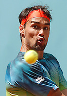 Fabio Fognini during the Madrid Open at Manzanares Park Tennis Centre, Madrid<br /> Picture by EXPA Pictures/Focus Images Ltd 07814482222<br /> 04/05/2016
