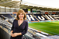 Broadcaster Maggie Philbin visits Hull and the KC Stadium