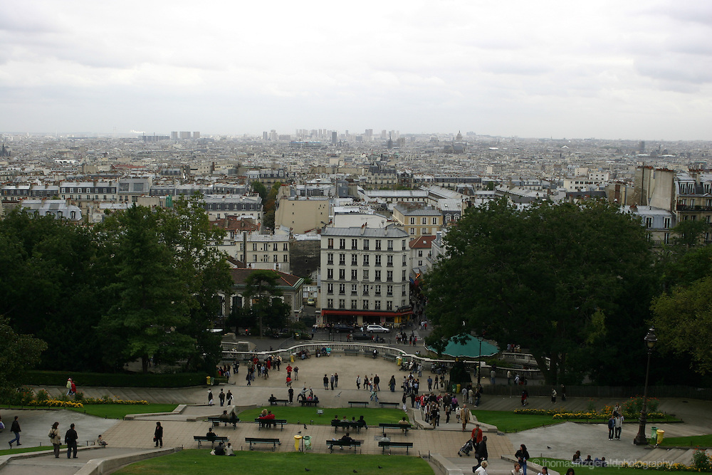 View of Paris Rooftops from Montmarte