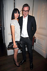 LIBERTY ROSS and PAURIC SWEENEY at a dinner hosted by designer Pauric Sweeney held in The Postilion Roon, The Langham, ondon on 23rd June 2009.