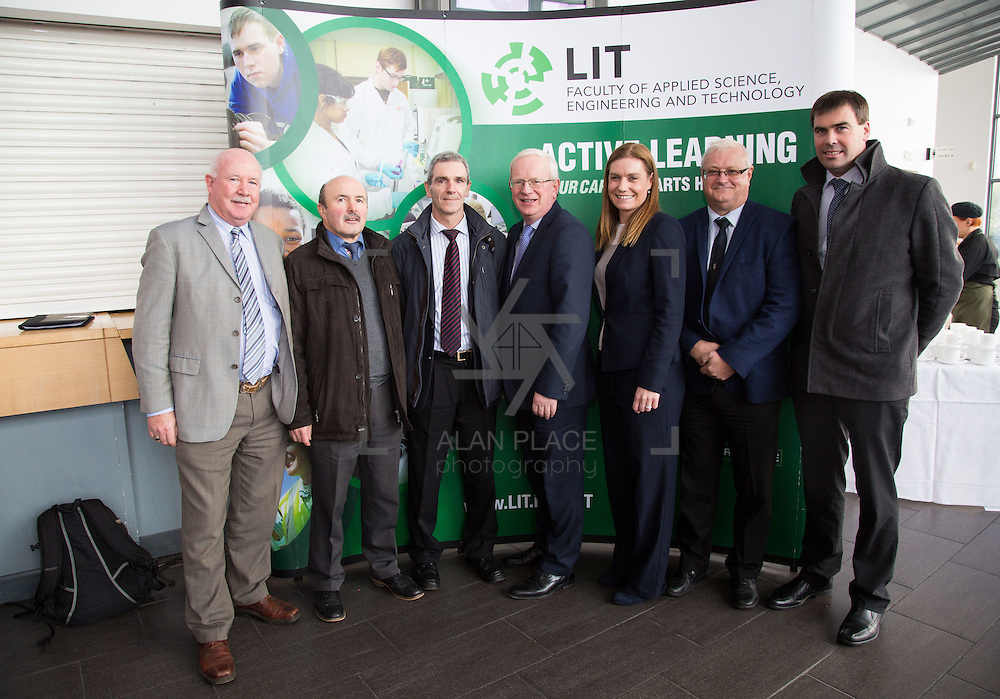 21/08/2015             <br /> Launch of LIT Department of Electrical and Electronic Engineering, Apprenticeship in Industrial Electrical Engineering. <br /> <br /> Attending the launch were, Charlie Walsh, LWETB, Tony Gordon, LCETB, Mike O&quot;Donnell, LCETB, Prof. Vincent Cunnane, President LIT, Peter Heffernan, LDETB, Frances Hardiman, LIT and Des Lance, LCETB. Picture: Alan Place