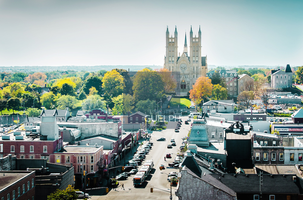 Guelph City Skyline.  Downtown Guelph.  Photo by Phil Maurion