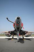 Israel, Tel Nof IAF Base  An Israeli Air force (IAF) exhibition Israeli Air Force Mcdonnell Douglas Skyhawk Fighter jet