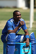 Dwayne Bravo during the Mumbai Indians training ( nets ) session held at The Wanderers Stadium in Johannesburg on the 6th September 2010 held as part of the build up to the Champions League T20 tournament being held in South Africa between the 10th and 26th September 2010..Photo by: Ron Gaunt/SPORTZPICS/CLT20