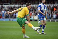 Bristol - Saturday May 1st, 2010: Chris Martin of Norwich City scores his side's first goal during the Coca Cola League One match at The Memorial Stadium, Bristol. (Pic by Mark Chapman/Focus Images)..