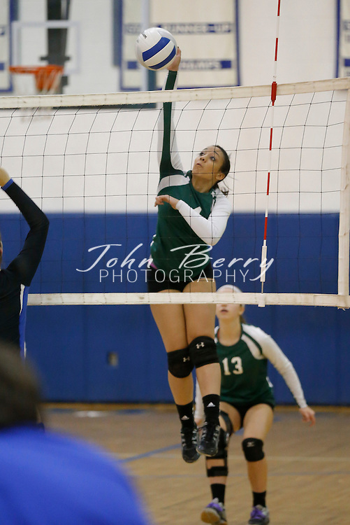 November 01, 2014.  <br /> MCHS Varsity Volleyball vs William Monroe.  Bull Run District Tournament Finals.  Madison wins 3-1 (18-25, 25-13, 25-19, 25-18) over Monroe.  Madison's Bailey Colvin is Bull Run District Player of the Year.  First Team All District:  Sheridan Santinga, Logan Coates, Jeana Grace Kelliher, and Bailey Colvin.  Cassity Lacy Second Team All District.