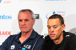 January 12, 2019 - Richie Porte (L) at TDU Official Race Press Conference, with Mike Turtur, TDU Race Director, Daryl Impey (Mitchelton-SCOTT) 2018 TDU Champion, Peter Sagan (BORA-hansgrohe), Richie Porte (Trek-Segafredo) & Caleb Ewan (Lotto-Soudal), Tour Down Under, Australia on the 12 of January 2019  (Credit Image: © Gary Francis/ZUMA Wire)