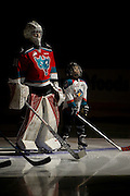 KELOWNA, CANADA - OCTOBER 14: Pepsi Player in the starting line up with Brodan Salmond #31 of Kelowna Rockets at the Kelowna Rockets game on October 14, 2016 at Prospera Place in Kelowna, British Columbia, Canada.  (Photo By Cindy Rogers/Nyasa Photography,  *** Local Caption ***