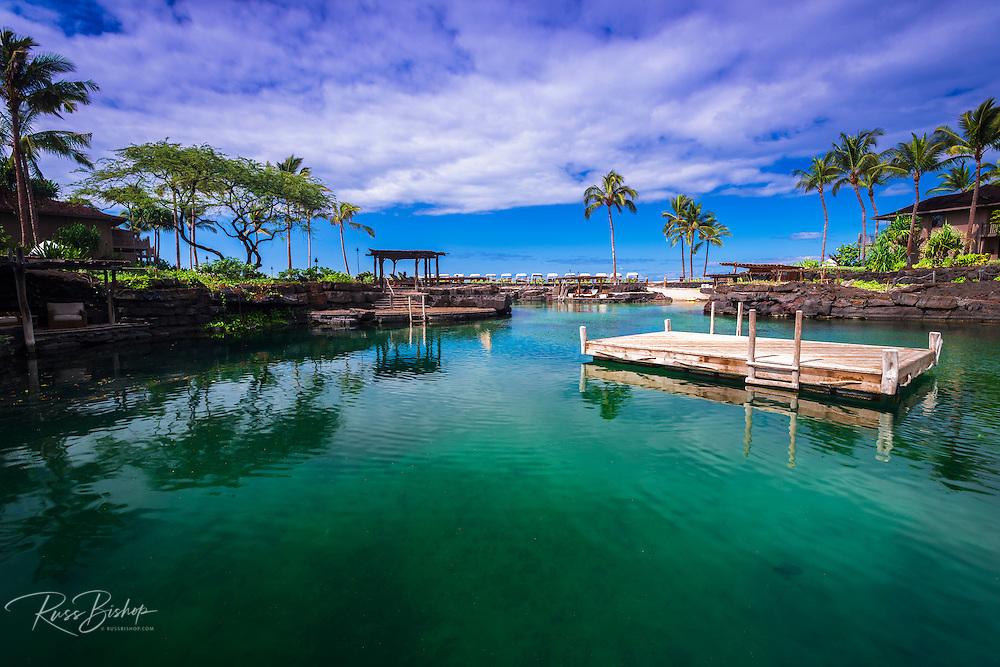 Swimming lagoon at the Four Seasons Hualalai, Kohala Coast, Hawaii USA