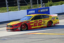 March 23, 2019 - Martinsville, VA, U.S. - MARTINSVILLE, VA - MARCH 23:  #22: Joey Logano, Team Penske, Ford Mustang Shell Pennzoil during practice for the STP 500 Monster Energy NASCAR Cup Series race on March 23, 2019 at the Martinsville Speedway in Martinsville, VA.  (Photo by David J. Griffin/Icon Sportswire) (Credit Image: © David J. Griffin/Icon SMI via ZUMA Press)