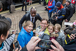 Neeskens Kebano of Fulham arrives at craven cottage and poses for fans - Mandatory by-line: Jason Brown/JMP - 19/02/2017 - FOOTBALL - Craven Cottage - Fulham, England - Fulham v Tottenham Hotspur - Emirates FA Cup fifth round
