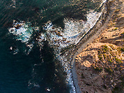 Aerial view of Dana Point, Southern California at sunset.