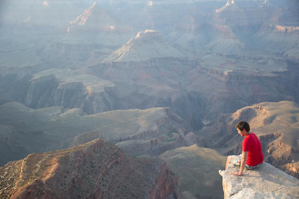 Woman on Giant Rock