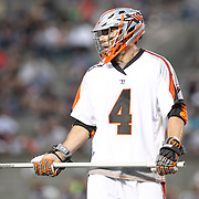 Chris O'Dougherty #4 of the Denver Outlaws is seen on the field during the game at Harvard Stadium on May 10, 2014 in Boston, Massachusetts. (Photo by Elan Kawesch)