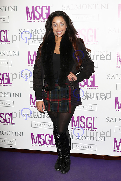Alexandra Buggs, MediaSkin Gifting Lounge, Salmontini Le Resto, London UK, 19 January 2015, Photo by Richard Goldschmidt