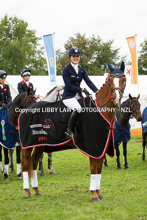 2013 TITLE WINNER: NZL-Lizzie Brown (HENTON ATTORNEY GENERAL) FINAL-1ST: CCIO3* PRIZEGIVING: 2013 NED-Military Boekelo International Horse Trial (Sunday 13 October) CREDIT: Libby Law: COPYRIGHT: LIBBY LAW PHOTOGRAPHY - NZL