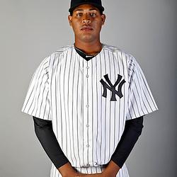 Feb 20, 2013; Tampa, FL, USA; New York Yankees starting pitcher Ivan Nova (47) during photo day at Steinbrenner Field. Mandatory Credit: Derick E. Hingle-USA TODAY Sports