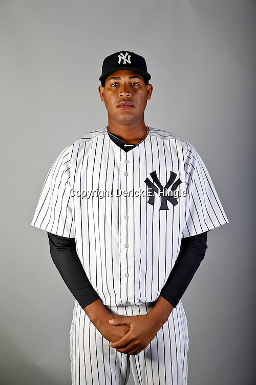 Feb 20, 2013; Tampa, FL, USA; New York Yankees starting pitcher Ivan Nova (47) during photo day at Steinbrenner Field. Mandatory Credit: Derick E. Hingle-USA TODAY Sports