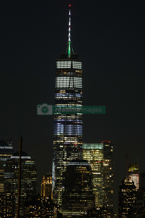 May 27, 2019 - New York, New York, United States - One World View in New York City on May 28, 2019 as seen from Bayonne, New Jersey. (Credit Image: © William Volcov/ZUMA Wire)