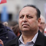 Zufiqar Ahemed Chairman of the JKPNP attends the annual May Day march and rally in Trafalgar square 1st May 2017, London, UK. by See Li