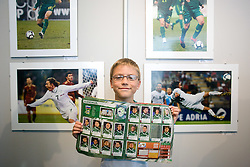Young fan during opening of Photo exhibition in Hypo bank, on May 19, 2010 in Ciytpark, BTC, Ljubljana, Slovenia. (Photo by Vid Ponikvar / Sportida)