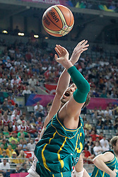 07.09.2014, Palau Sant Jordi, Barcelona, ESP, FIBA WM, Australien vs Türkei, Achtelfinale, im Bild Australia's David Andersen // during FIBA Basketball World Cup Spain 2014 round of 16 match between Australia and Turkey at the Palau Sant Jordi in Barcelona, Spain on 2014/09/07. EXPA Pictures © 2014, PhotoCredit: EXPA/ Alterphotos/ Acero<br /> <br /> *****ATTENTION - OUT of ESP, SUI*****