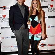 NLD/Amsterdam/20100215 -  inloop verkiezing Miss i Love Fashion, Dewi Pechler en broer Julian