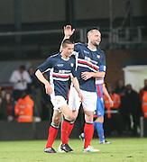 James McPake congratulates  Cammy Kerr on his goal - Crystal Palace v Dundee - Julian Speroni testimonial match at Selhurst Park<br /> <br />  - © David Young - www.davidyoungphoto.co.uk - email: davidyoungphoto@gmail.com