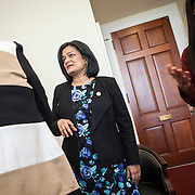 Representative Pramila Jayapal (D-WA, 7), met with representatives of the Washington Bankers Association, on Tuesday, January 31, 2017.  The meeting was one of four 30-minute meetings with constituent advocacy groups during the day.  John Boal photo/for The Stranger