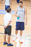 Marc Gasol during the Spain training session before EuroBasket 2017 in Madrid. August 02, 2017. (ALTERPHOTOS/Borja B.Hojas)