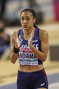 Solene Ndama (France), Pentathlon, Shot Put, during the European Athletics Indoor Championships 2019 at Emirates Arena, Glasgow, United Kingdom on 1 March 2019.