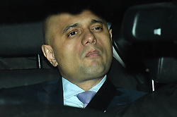 © Licensed to London News Pictures. 12/12/2018. London, UK. Home Secretary SAJID JAVID leaving the Houses of Parliament in Westminster after a vote of confidence In the Prime Minister. Photo credit: Ben Cawthra/LNP