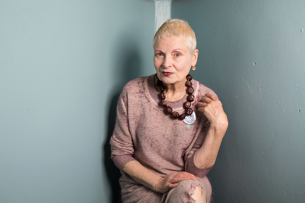Dame Vivienne Westwood at A Child of Jago store opening on Charing Cross Road in London on Thursday 16th October 2014<br />
