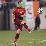 Hugo Almeida, Portugal, in action during the Portugal V Ireland International Friendly match in preparation for the 2014 FIFA World Cup in Brazil. MetLife Stadium, Rutherford, New Jersey, USA. 10th June 2014. Photo Tim Clayton