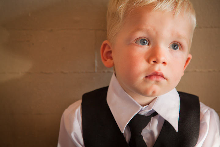 Two and a half year old ring barrer, Davis, at Amie and Matt Sulivan's wedding in Seattle.