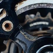 Details of Rex Flake's Intense Mountain Bike.