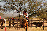 The Roundup & Open House, a celebration of the cowboy and a day long Western experience, is sponsored by the Empire Foundation at the historic Empire Ranch in Sonoita, Arizona, USA.