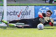 Forest Green Rovers goalkeeper James Montgomery during the EFL Sky Bet League 2 match between Forest Green Rovers and Cambridge United at the New Lawn, Forest Green, United Kingdom on 22 April 2019.