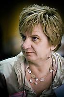 Nederland. Amsterdam, 6 oktober 2007.<br /> PvdA Congres in de RAI. Tweede kamerlid mariette hamer.<br /> Foto Martijn Beekman <br /> NIET VOOR TROUW, AD, TELEGRAAF, NRC EN HET PAROOL