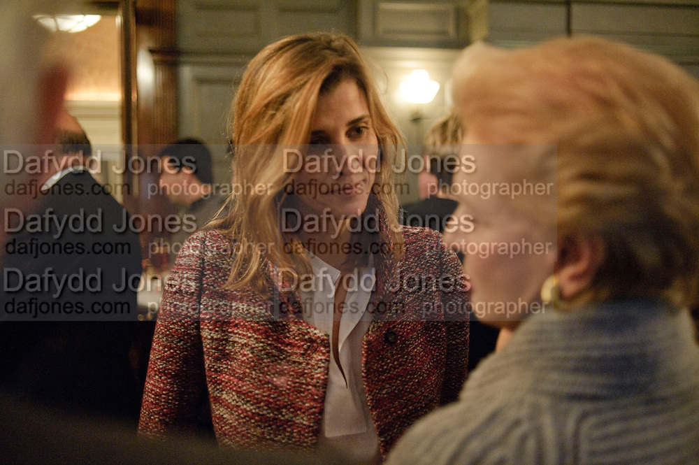 PRINCESS; ROSARIO OF BULGARIA; CAROLINA HERRERA;, Graydon and Anna Carter host a lunch for Carolina Herrera to celebrate the ipening of her new shop on Mount St. .The Connaught. London. 20 January 2010