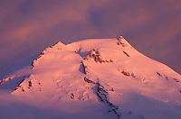 Sunrise over Mount Baker (elevation 10,778feet (3,285m), North Cascades Washington