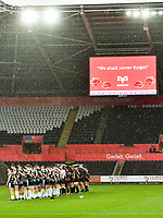 Rugby Union - 2019 / 2020 Guinness Pro14 - Ospreys vs. Southern Kings<br /> <br /> minutes silence for armistice day , at The Liberty Stadium.<br /> <br /> COLORSPORT/WINSTON BYNORTH
