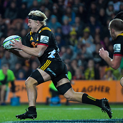 Mitchell Karpik (Chiefs) in action during the Super Rugby match between the Chiefs and Hurricanes at FMG Stadium in Hamilton, New Zealand on Friday, 13 July 2018. Photo: Dave Lintott / lintottphoto.co.nz