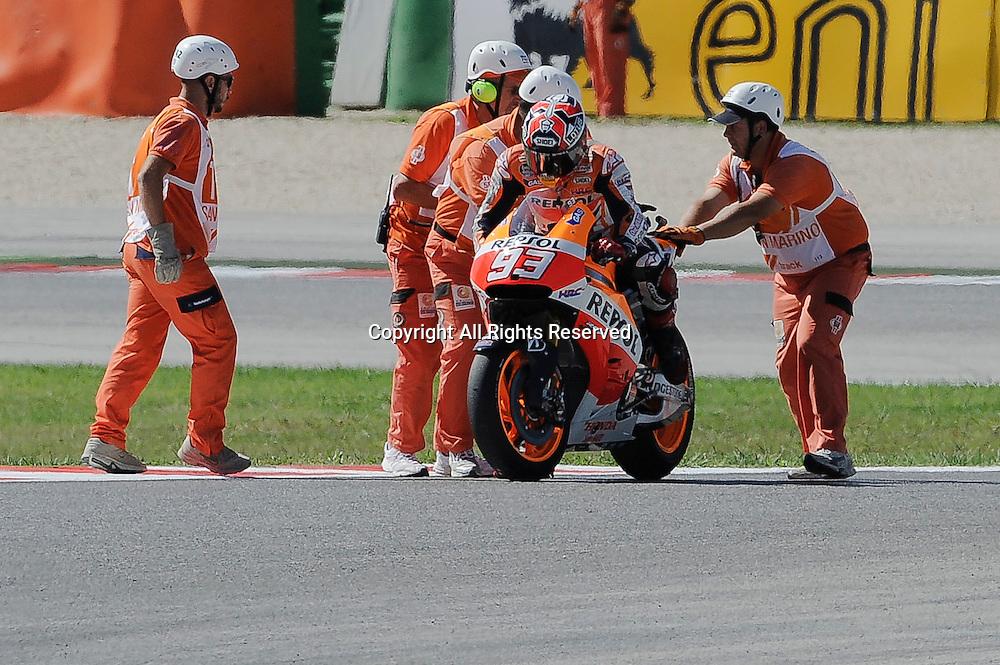14.09.2014.  Misano, San Marino. MotoGP. San Marino Grand Prix. Marc Marquez (Repsol Honda) during the race.