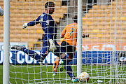James Henry celebrates scoring equaliser during the Sky Bet Championship match between Wolverhampton Wanderers and Hull City at Molineux, Wolverhampton, England on 16 August 2015. Photo by Alan Franklin.
