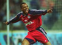 Jubel 0:2 Paulo SERGIO Bayern MŸnchen<br />1860 MŸnchen - Bayern MŸnchen 0:2,  SERGIO Paulo.